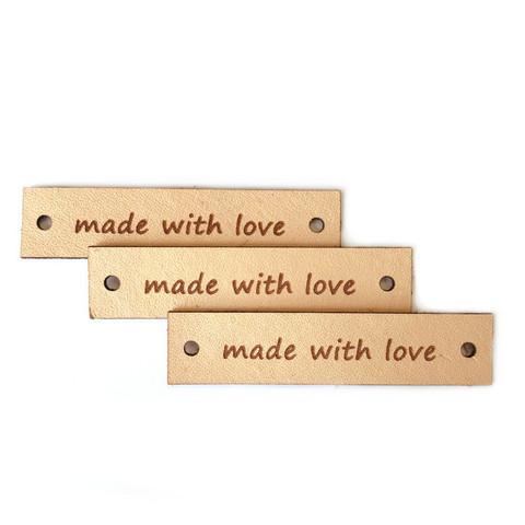 Kotimainen -  Made with love merkki suorakaide, nahka