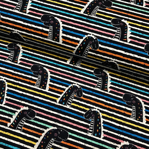 Digitrikoo: Dino stripes, monivärinen
