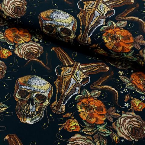 Digitrikoo: Autumn and animal skull, musta - oranssi