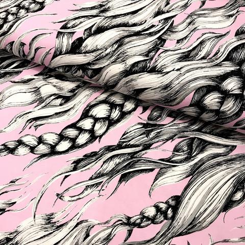 Hellin: Pony Braid luomupuuvillatrikoo, rose