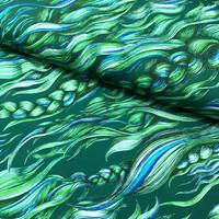 Hellin: Pony Braid luomupuuvillatrikoo, seaweed