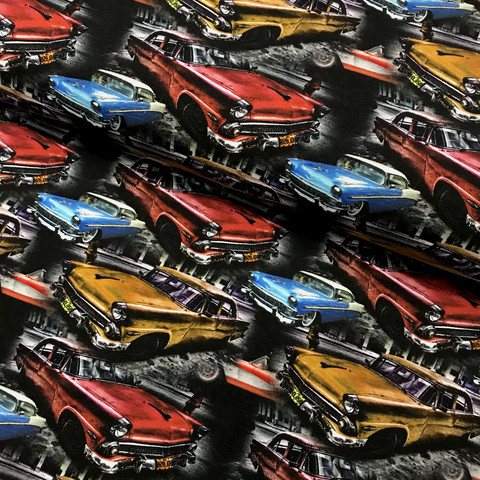 Digitrikoo: Jenkkiautot, puna-okra-sininen
