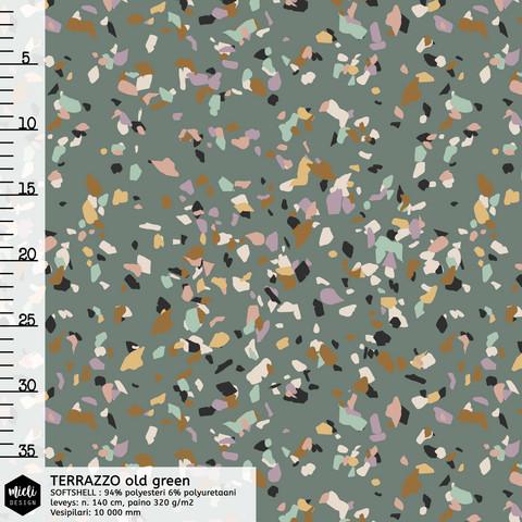 Mieli Design, softshell: TERRAZZO old green