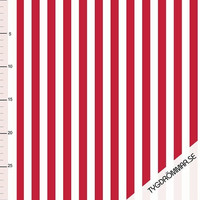 Tygdrömmar, luomutrikoo: Vertical lines, punainen