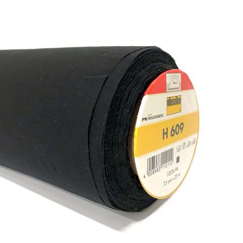 Vlieseline: Vlieseline H 609 joustava tukikangas, musta