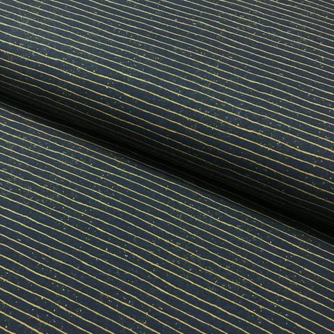 Stenzo, digitrikoo: Stripes, tumma petrooli - kulta