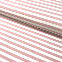 Trikoo: Raita 1cm, roosa - valkoinen