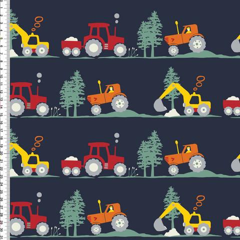 Digitrikoo: Traktorit ja kaivurit, tummansininen