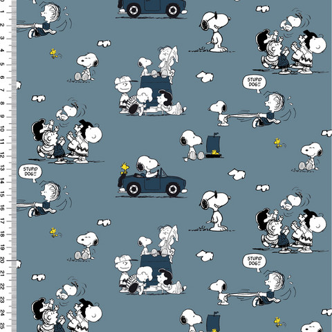 Snoopy trikoo: Snoopy and car, jeans
