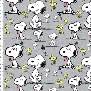 Snoopy trikoo: Snoopy faces, meleerattu harmaa