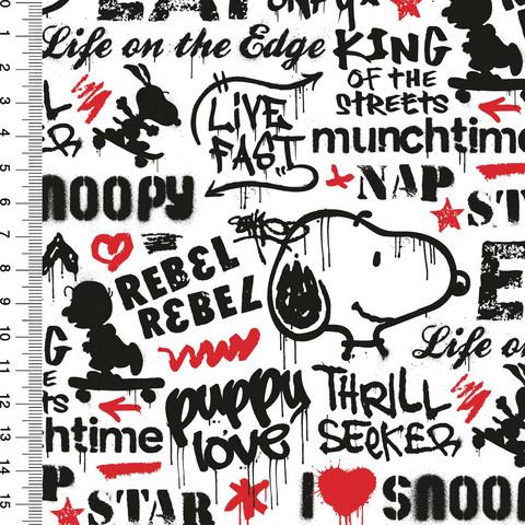 Snoopy trikoo: Snoopy graffiti, valkoinen - punainen
