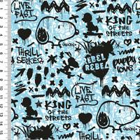 Snoopy trikoo: Snoopy graffiti, blue
