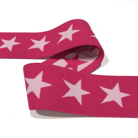 Bokserikuminauha 40mm tähti: pinkki