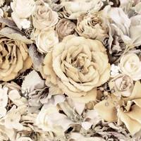 Digitrikoo: Big roses, beige