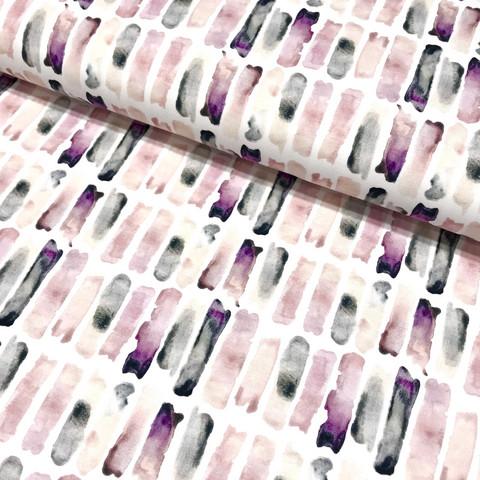 Digitrikoo: Watercolor stripes, vanha roosa - lila