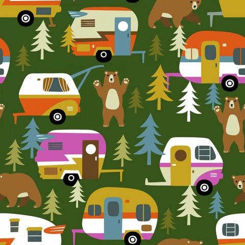 Digitrikoo: Camping, tummanvihreä