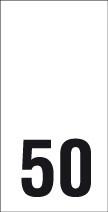 Kokomerkki - 50 - 10kpl