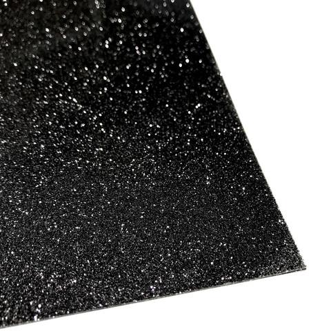 Silityskalvo: Glitteri, musta (Gem Flex)