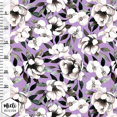 Mieli Design, luomutrikoo: BLUSH BLOOM lavender