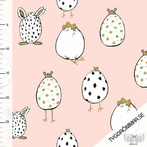 Tygdrömmar, luomutrikoo: Crazy egg - vaaleanpunainen