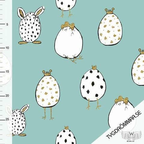Tygdrömmar, luomutrikoo: Crazy egg - murrettu minttu