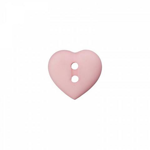 Prym: Nappi sydän 12mm, roosa