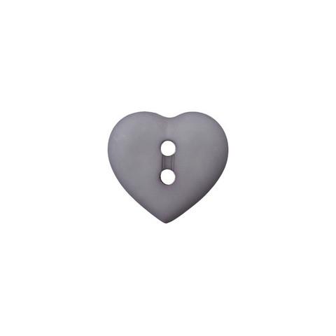 Prym: Nappi sydän 12mm, tummanharmaa