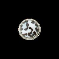 Prym: Nappi leopardi 12mm, valkoinen