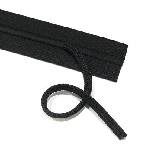 Prym: Nyörikuminauha 38mm, musta/valkoinen