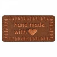 Prym: Hand made with -merkki, 40mm, tummanruskea