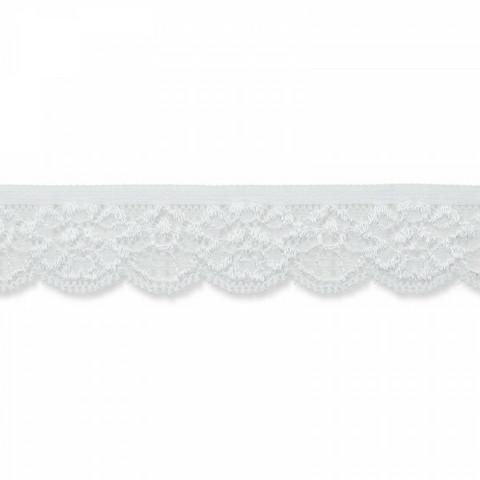 Prym: Joustava pitsi 25mm, valkoinen