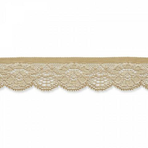 Prym: Joustava pitsi 25mm, beige