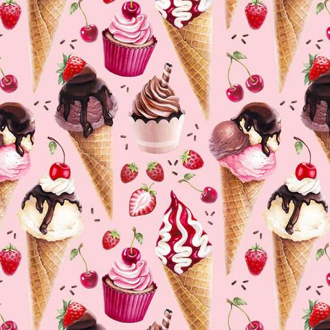 Digitrikoo: Jäätelöt, vaaleanpunainen