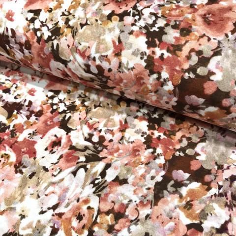 Bambutrikoo: Pienet kukat, viininpunainen - roosa - valkoinen