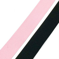 Alusvaatekuminauha 30mm, musta ja vaaleanpunainen