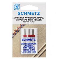 Ompelukoneneula: Schmetz twin universal, (1,6/70, 2,0/80 ja 3,0/90)