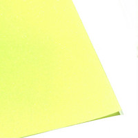 Silityskalvo: Glitteri, neonkeltainen (Gem Flex)