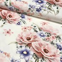 Digitrikoo: Sweet summer flowers, valkoinen