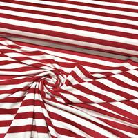 Viskoositrikoo: Raita 1cm, punainen - valkoinen