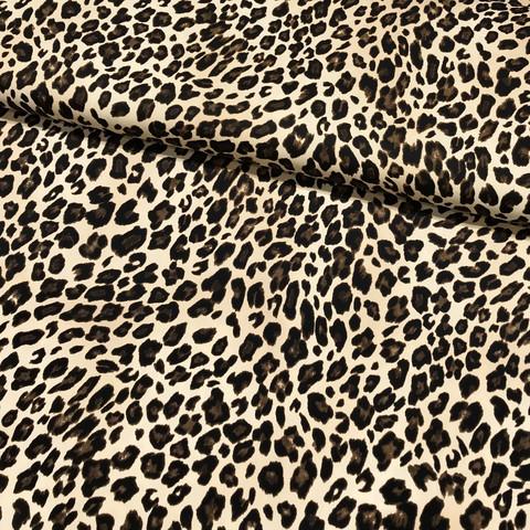 Lycra: Leopard, ruskea - kameli
