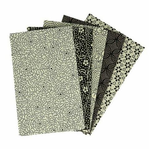 Tissu de Marie Fat quarter bundles: Käsityöpuuvillalajitelma 5 x 50x57cm (Blanced beige)