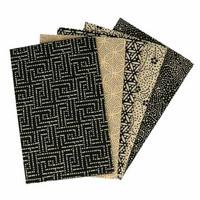Tissu de Marie Fat quarter bundles: Käsityöpuuvillalajitelma 5 x 50x57cm (Mysterious Midnight)
