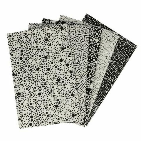 Tissu de Marie Fat quarter bundles: Käsityöpuuvillalajitelma 5 x 50x57cm (Original onyx)