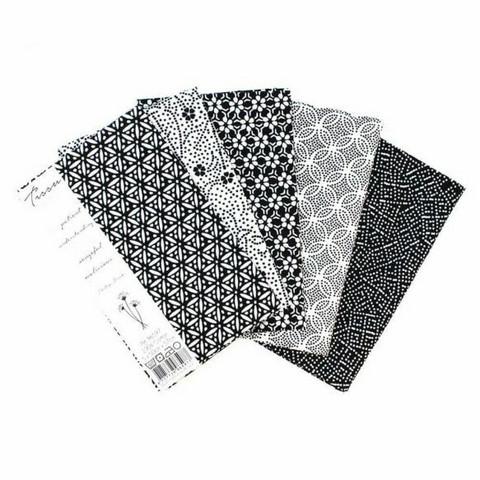Tissu de Marie Fat quarter bundles: Käsityöpuuvillalajitelma 5 x 50x57cm (Patient pearl)
