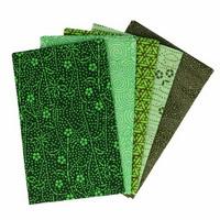 Tissu de Marie Fat quarter bundles: Käsityöpuuvillalajitelma 5 x 50x57cm (Enchanted emerald)