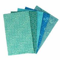 Tissu de Marie Fat quarter bundles: Käsityöpuuvillalajitelma 5 x 50x57cm (Tranquil teal)