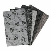 Tissu de Marie Fat quarter bundles: Käsityöpuuvillalajitelma 5 x 50x57cm (Sincere silver)