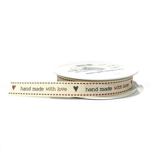 Satiininauha: Handmade with love 15mm