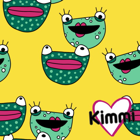 Kimmi, Organic jersey: Frogs, yellow