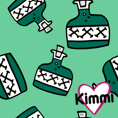 Kimmi, Organic jersey: Poison, mint